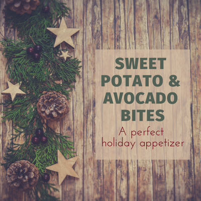 sweet potato and avocado bites